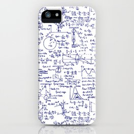 Physics Equations in Blue Pen iPhone Case