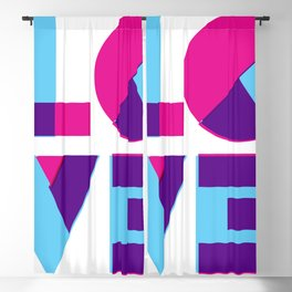 LOVE is beautiful Blackout Curtain