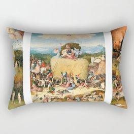 The Haywain Triptych by Bosch 1519 Rectangular Pillow