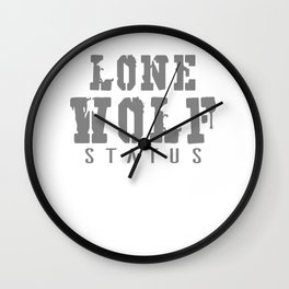 Lone Wolf Status Wall Clock