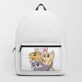Cute Cats, Kawaii Anime Style Playful Kittens Backpack