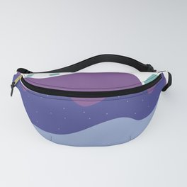Abstract Blues Fanny Pack