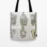 bones Tote Bags featuring Bones by Kristen Willsher