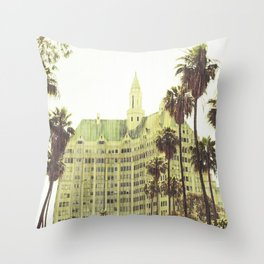 Vintage Retro De-Saturated Architectural Villa Riviera Historical Colored Wall Art Framed Print Throw Pillow
