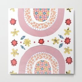 Rainbow No. 6 - papers collage nice dreams tile pattern Metal Print