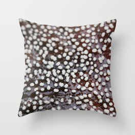 Slime Mold on a Leaf Throw Pillow