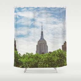 Color Empire State Building Shower Curtain