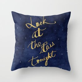 Starry Night Sky Art, Celestial Astronomy Stars Quote Art Print Poster, Celestial Nursery Decor Throw Pillow