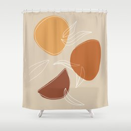 VENDEMMIA SICILIANA - Sicilian Harvest - Modern abstract art Shower Curtain