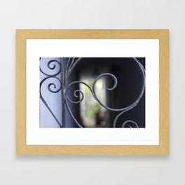 Charleston Blue Wrought Iron Framed Art Print