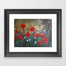 Impasto Poppy Love - Talins Poppy Love Framed Art Print