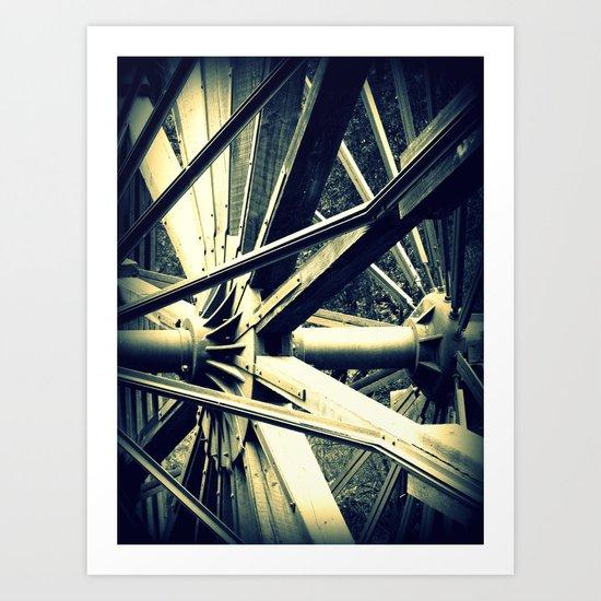 Tailing Wheels II Art Print