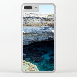 Seacoast of Adriatic Sea in Salento Italy Clear iPhone Case