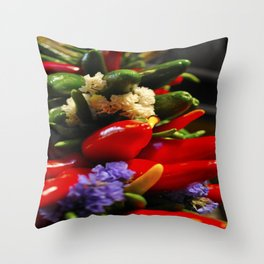 Chilies Throw Pillow
