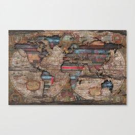 Distress World Canvas Print