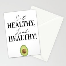 Eat healthy, look healthy Stationery Cards