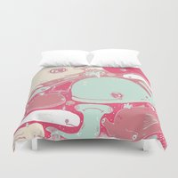 whales Duvet Covers featuring Whales by Amy Gale