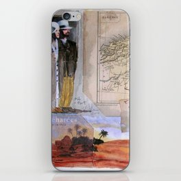 KIT AND PORT (THE SHELTERING SKY) iPhone Skin