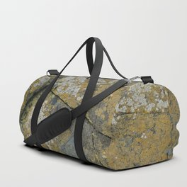 Ancient Rocks with Lichen Texture Duffle Bag