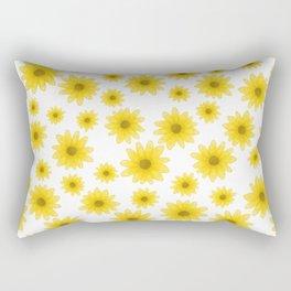 Sunflower Floral Pattern Rectangular Pillow