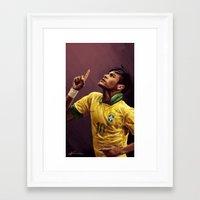 neymar Framed Art Prints featuring Neymar Jr. by apfelgriebs