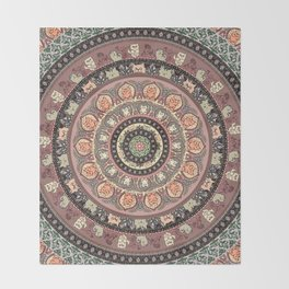 Cat Yoga Medallion Throw Blanket