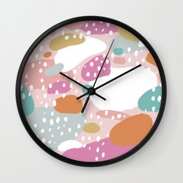 Colorful summer love candy land Wall Clock