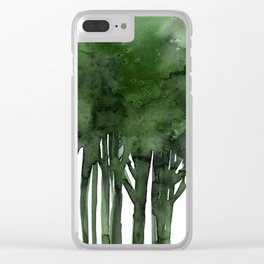 Tree Impressions No.1C by Kathy Morton Stanion Clear iPhone Case