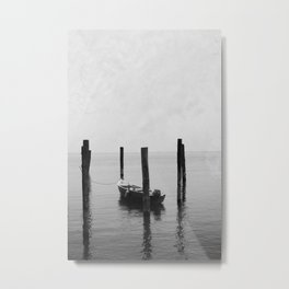 Boat on the lake Metal Print