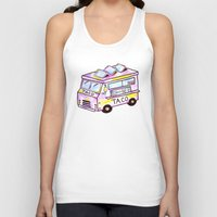 truck Tank Tops featuring Taco Truck by Sabrina May