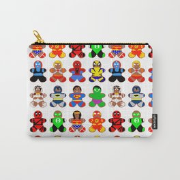 Superhero Gingerbread Man Carry-All Pouch