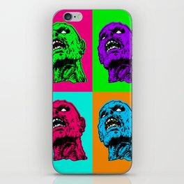Pop art zombie iPhone Skin