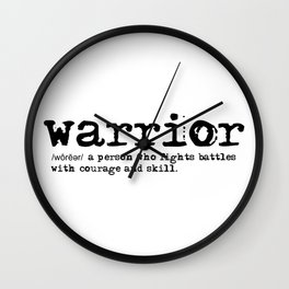 Warrior Definition Wall Clock