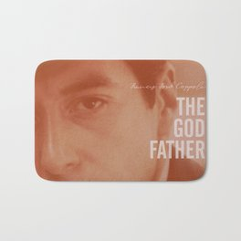 The Godfather, Alternative Movie Poster, Al Pacino, Marlon Brando, classic film Bath Mat