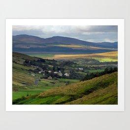 Countryside View of Ireland PhotoArt Art Print