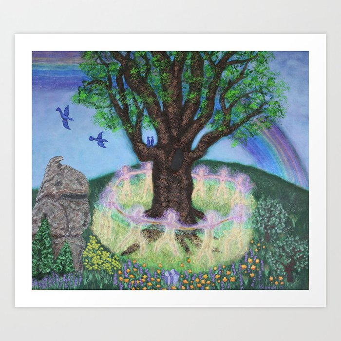 """Honoring Grandmother Tree"" Art Print"