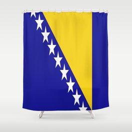 Flag of Bosnia – Bosnian,Bosniak,herzegovinian,bosna,Sarajevo,Balkan,yugoslavia. Shower Curtain