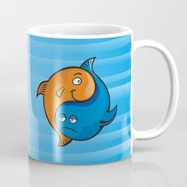 Yin Yang Fish Cartoon Coffee Mug
