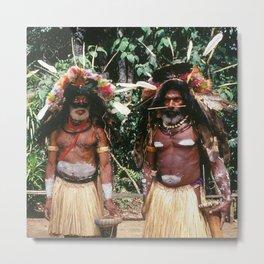 Papua New Guinea Village Sing Sing Authentic Celebration Metal Print