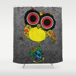 Printed Owl Shower Curtain