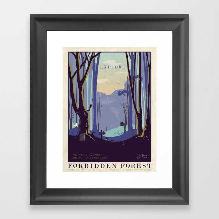 Explore The Forbidden Forest Gerahmter Kunstdruck