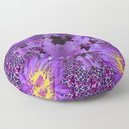 EXOTIC AMETHYST FEBRUARY  FLORAL FANTASY  ABSTRACT Floor Pillow