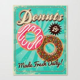 Frtesh Donuts Canvas Print