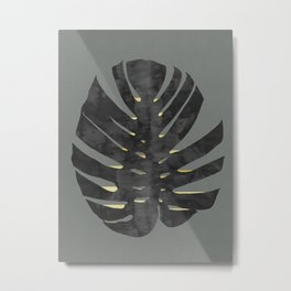 Leaf with gold Metal Print