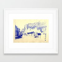 england Framed Art Prints featuring England  by Melanie Hopper