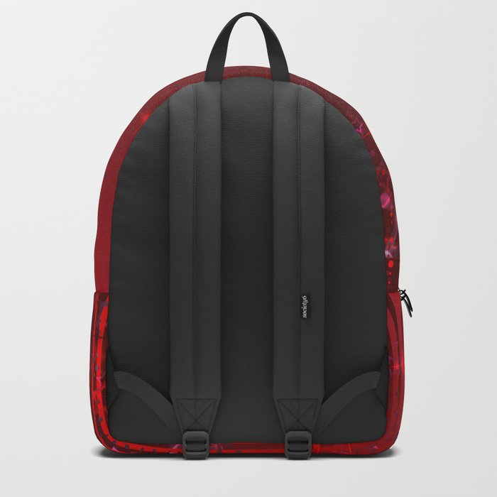 Red rain. Christmas . Backpack