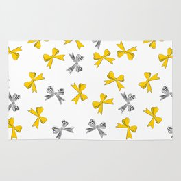 Yellow bow Rug