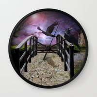 guardians Wall Clocks featuring The Guardians by Susie Hawkins