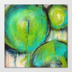Firefly - Textured Abstract Painting Canvas Print