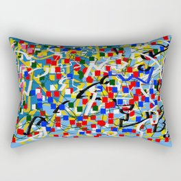 Abstract multicolor blue Rectangular Pillow
